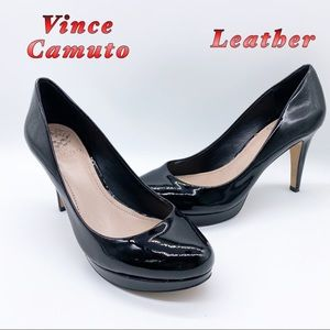 Vince Camuto- Black Patent Leather Classic Heel 8